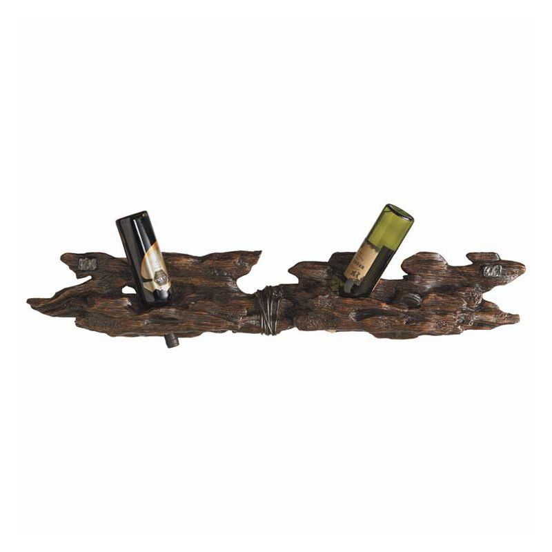 Have to have it. Rustic Log 6-Bottle Wall Wine Rack $179.99