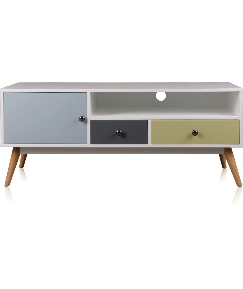 Buy hygena retro tv unit multicoloured at for Bedroom units argos