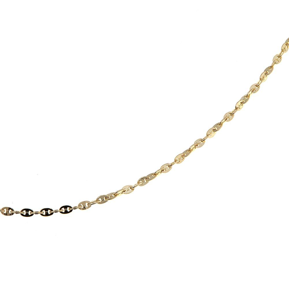 "Passport to Gold 14K Yellow Gold Mariner Chain 16"" Necklace"