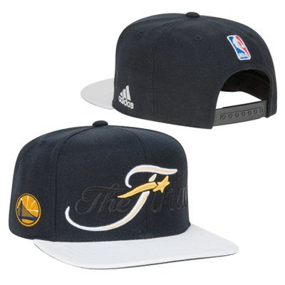 ba7e766c30630 Men s Golden State Warriors adidas Black White 2015 Western Conference  Champions Locker Room Adjustable Hat