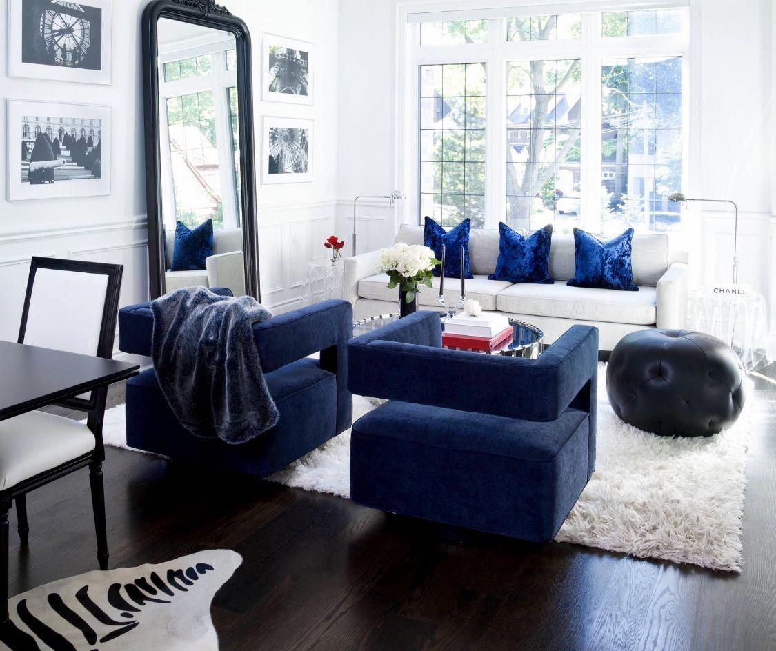 Blue living room blue swivel chair restoration hardware