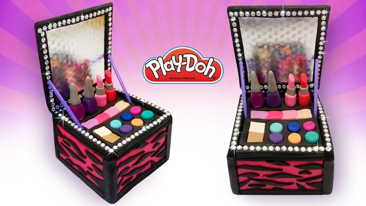Play Doh Makeup Set How to Make DIY Cosmetics Box