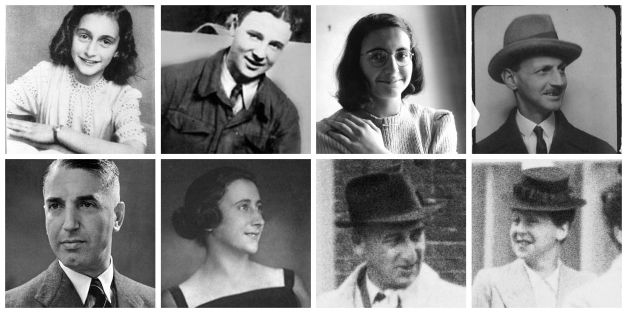 remembering-anne-and-margot: The occupents of the secret annexTop Row: Anne Frank, Peter Van Pels, Margot Frank, Otto FrankBottom Row: Fritz Pfeffer, Edith Frank, Hermann Van Pels, Auguste Van Pels