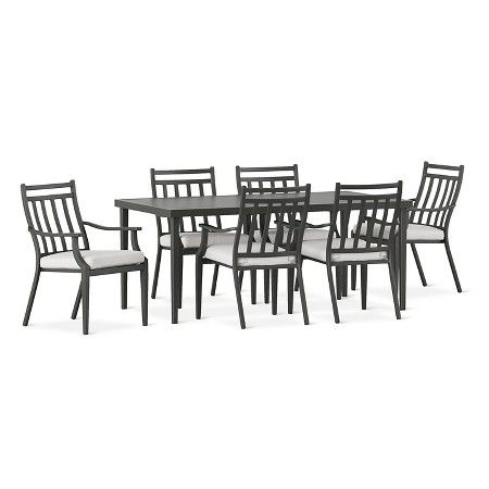 Fairmont Patio Furniture.Fairmont Steel Patio Furniture Dining Collection Threshold