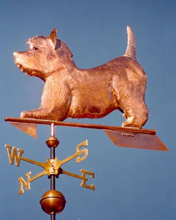 Dog Weathervane West Highland Terrier Play Bow Copper West Highland Terrier Westie Dogs Westies