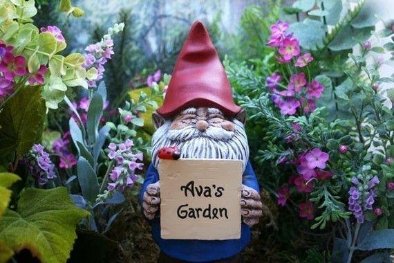 Gnome Garden: Handmade Personalized Garden Gnome Statue & Custom By