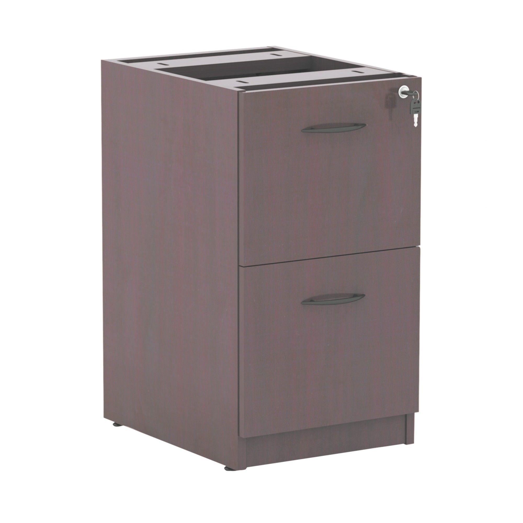 Alera Valencia 2 Drawer File Cabinet Locking   Mahogany (Brown)