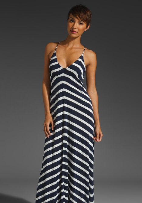 EIGHT SIXTY Stripe Maxi Dress in Navy/Scour at Revolve Clothing ...