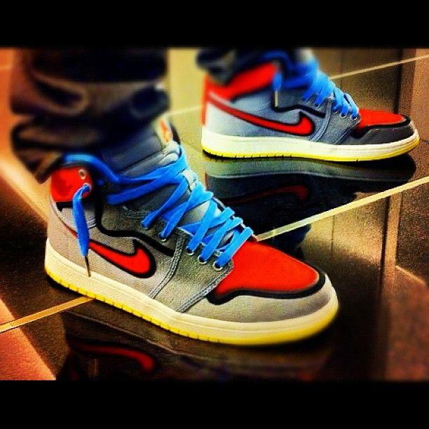 Air Jordan 1 Ko Ajko Barcelona Sneaker Head Your Shoes Custom Jordans