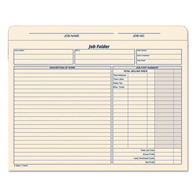 Folder,job,jacket,20\/pk Job description, Household notebook and - contractor job description