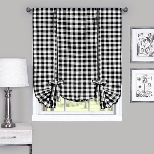 Found it at Wayfair - Buffalo Check Tie-Up Curtain