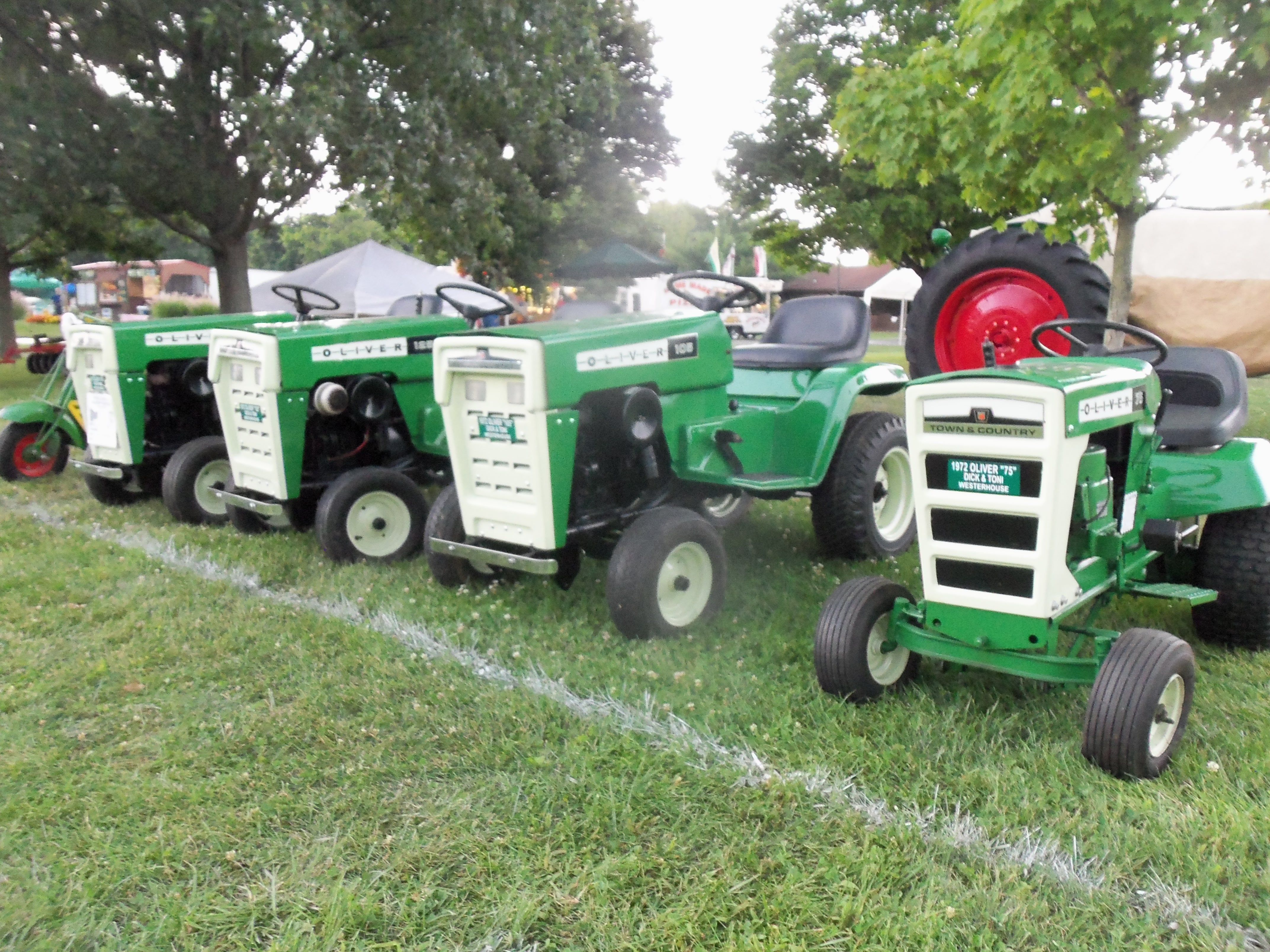 Show home build gas powered mini tractors - Oliver 75 105 125 145 Lawn Garden Tractors