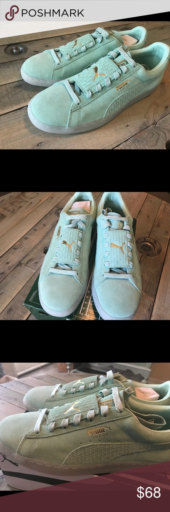0413156f4534 Puma Suede epic remix Men s Sneakers Sz 10 Brand New With box Never used  100% Authentic Puma Men s Puma Suede Epic Remix Size 10 Gossamer Green-Puma  white ...