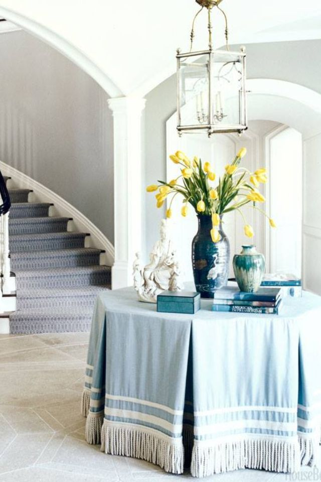 Pretty Table Cover  Design  Pinterest  Table Covers Foyers And Extraordinary Dining Room Tablecloths 2018