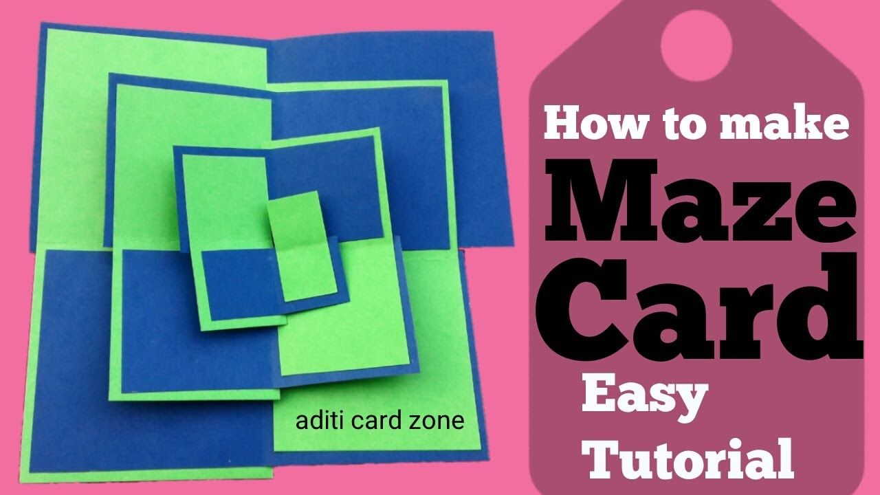 Maze Card Tutorial How To Make A Maze Card Diy Scrapbook Fun Fold Cards Diy Cards Card Making