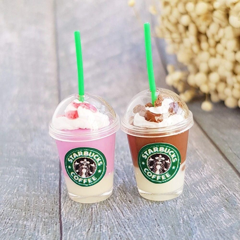 Keychain Starbucks Keychain Epoxy Mini Cup Key Chain Starbucks Keychain Starbucks Keychain Duncan Donuts Mini Keychain Keychain