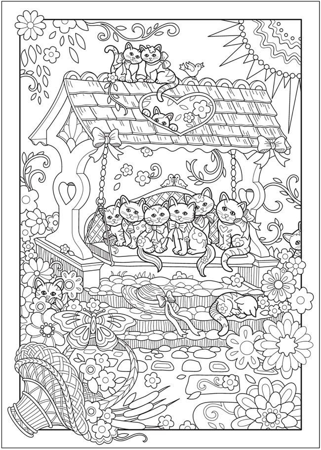 Creative haven creative kittens coloring book dover publications