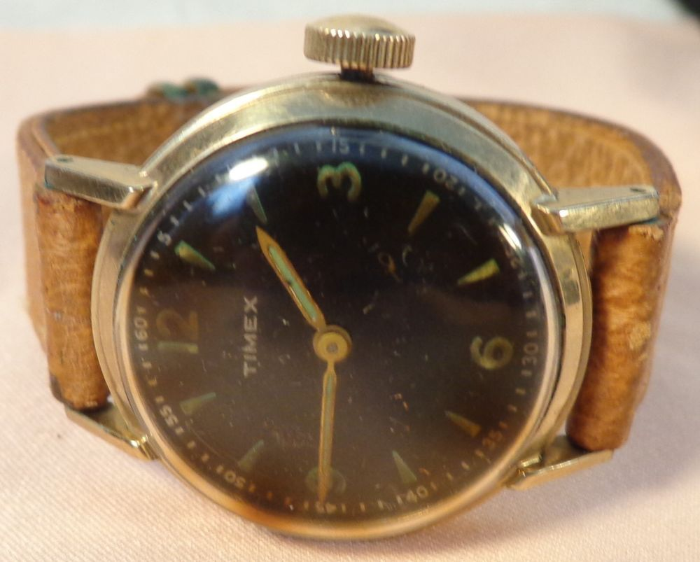 vintage 1950s us time timex self wind mens wristwatch self wind vintage us time timex self wind mens wristwatch self wind made usa jewelry watches watches parts accessories wristwatches