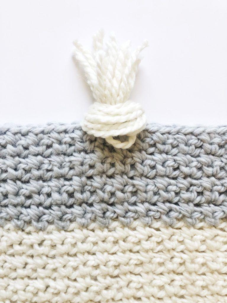 Crochet Striped Moss Stitch Throw   Daisy Farm Crafts   Mantas o ...