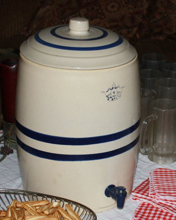 Beverage Container Vintage Robinson Ransbottom By Romantiquetouch 85 00 Crockery Country Wedding Reception Crock