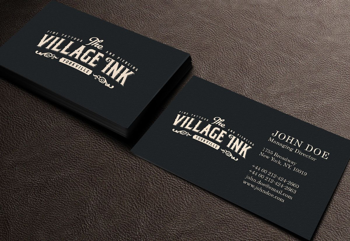 Business Cards Tattoo Designs Image Collections Card Design And - Tattoo business card templates