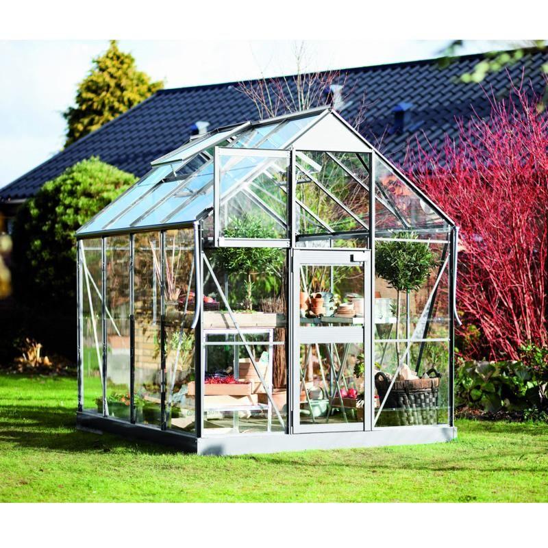 Serre de jardin Compact New 5.0m² aluminium et verre ...