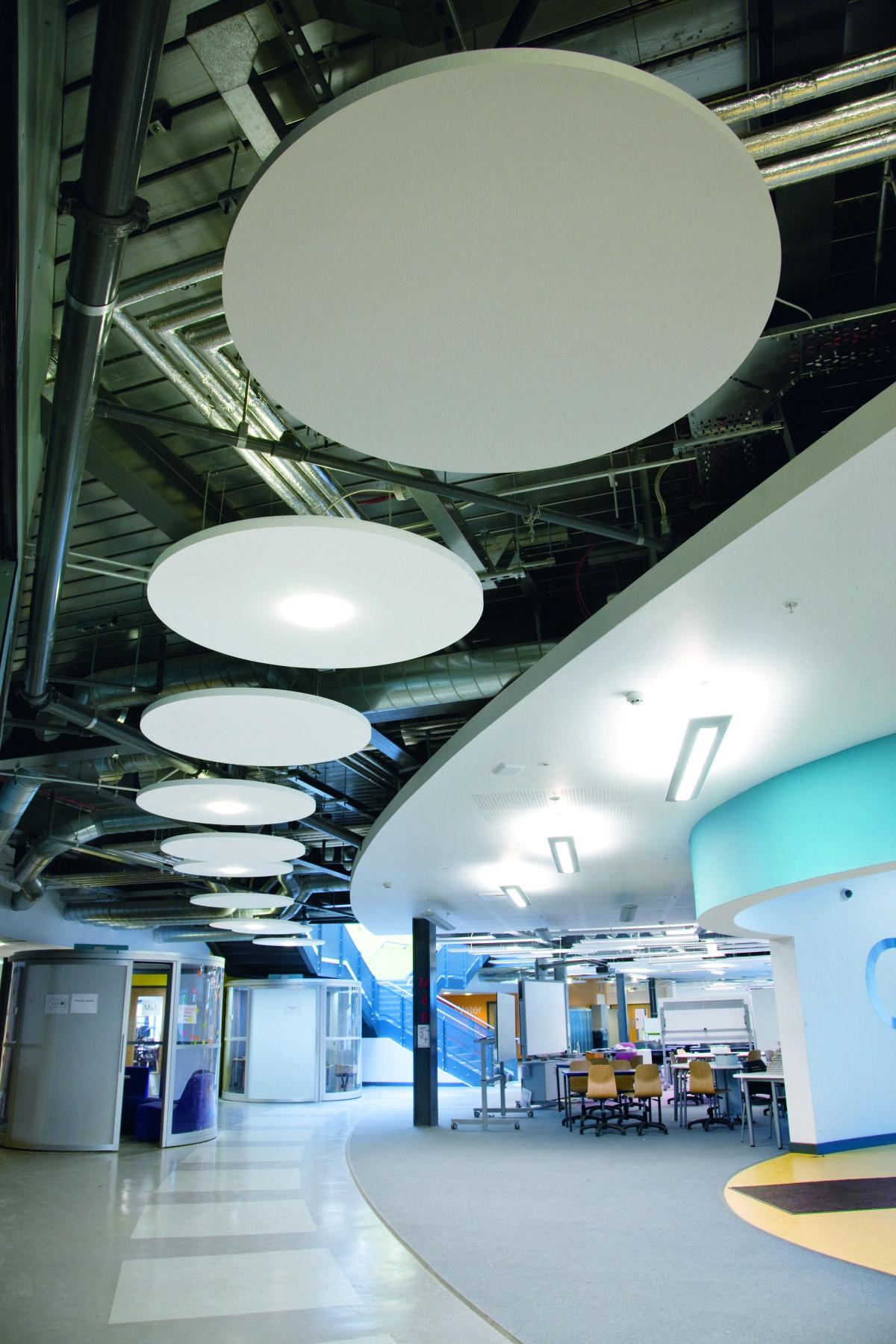 Runde Deckensegel Deckenarchitektur Decke Schallabsorber