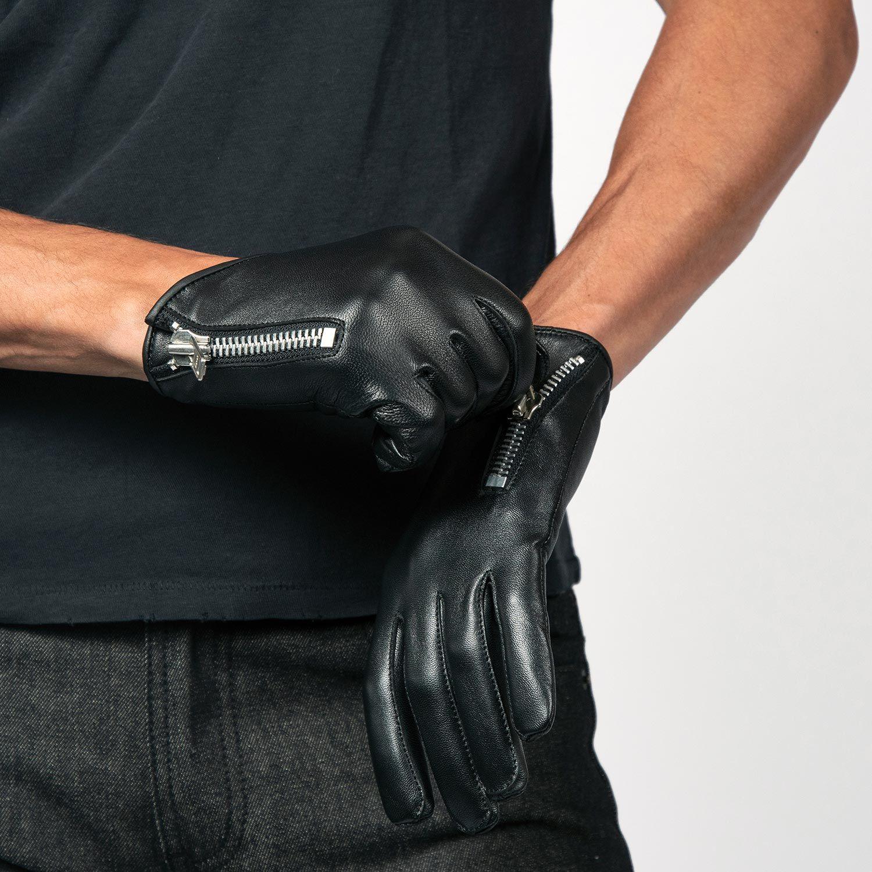 Mens Genuine Leather Driving Gloves Fashion Dress Motorbike Soft Slim Fit