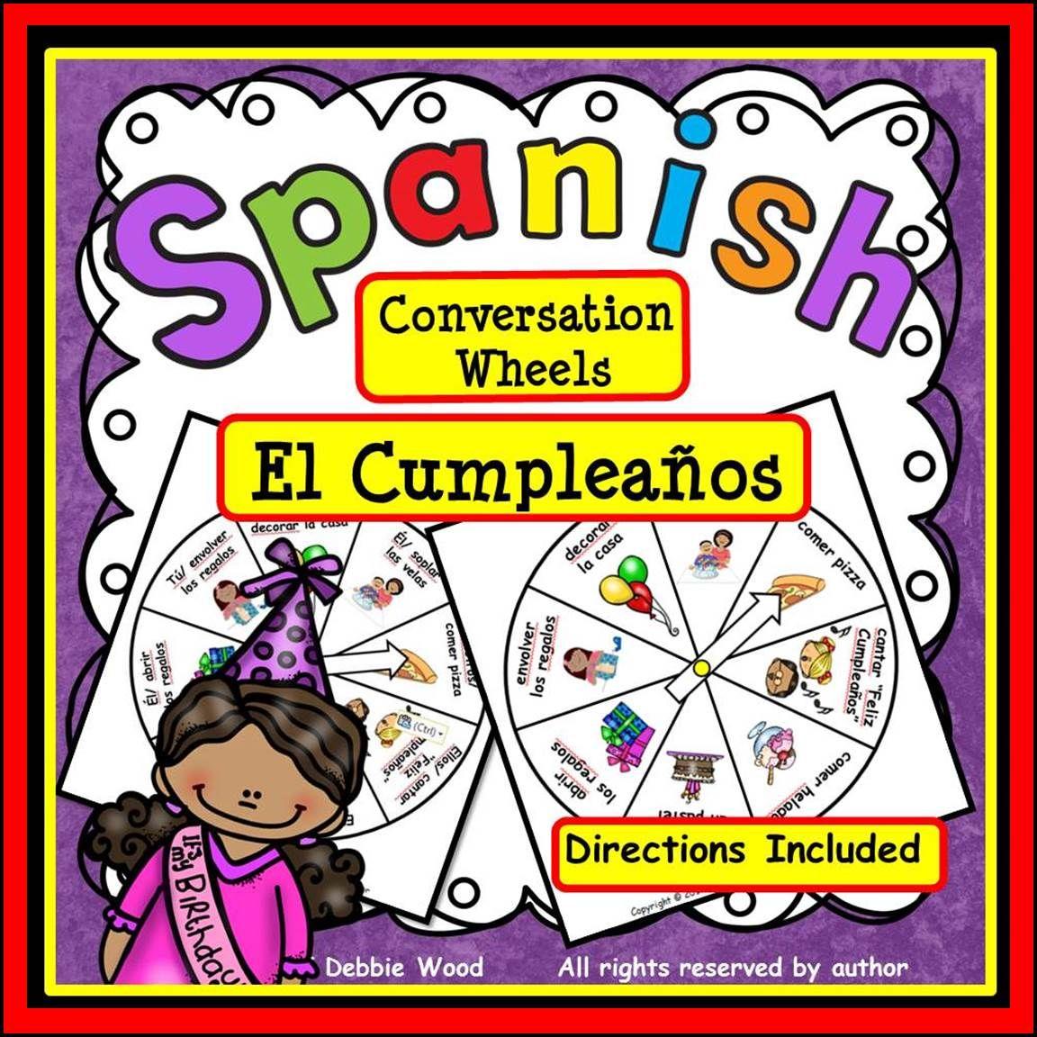 Spanish Conversation Freebie El Cumpleanos