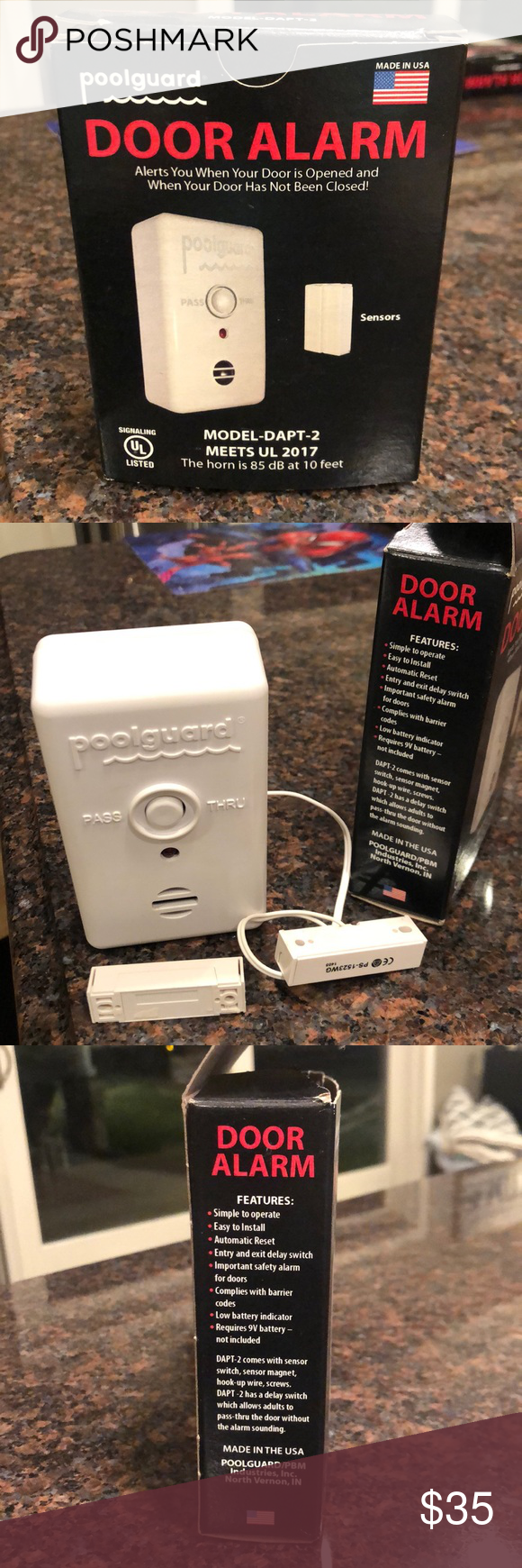 Pool Guard Door Alarm Poolguard Door Alarm This Is Great For Anyone With Small Children Animals Or For Anyone Who In 2020 Door Alarms Things To Sell The Door Is Open