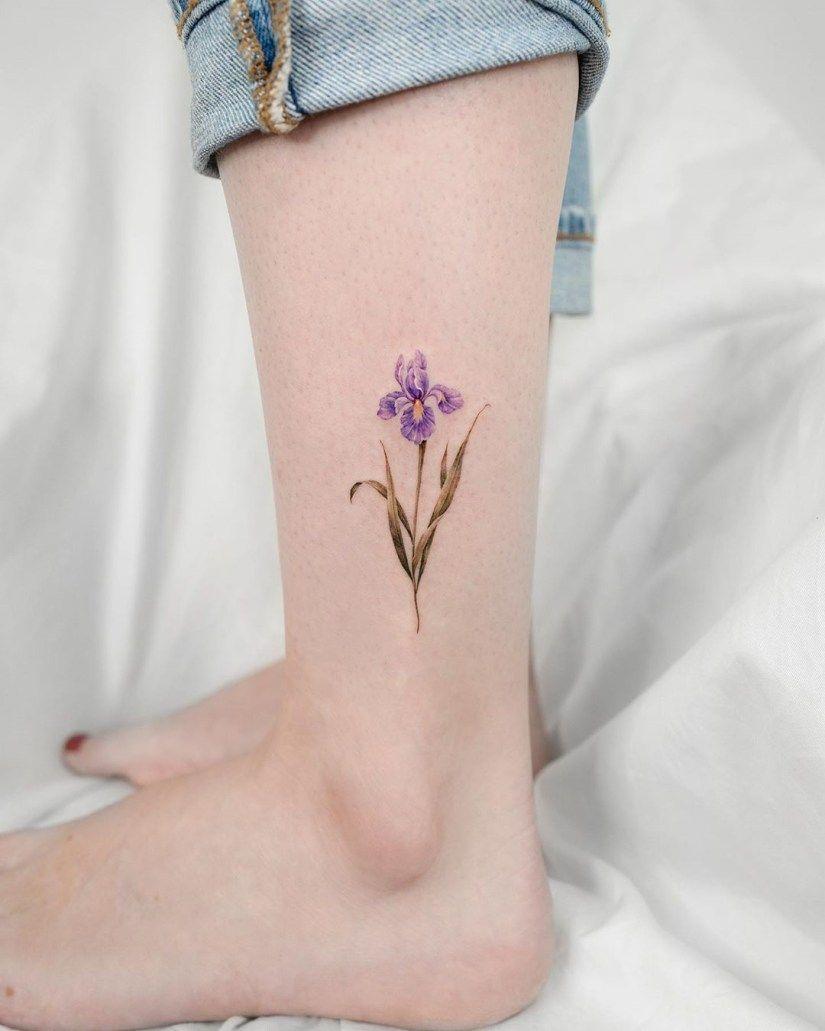 Small Iris Flower Tattoo : small, flower, tattoo, Tattoo, Designs, Meanings, HowLifeStyles, Tattoo,, Flower
