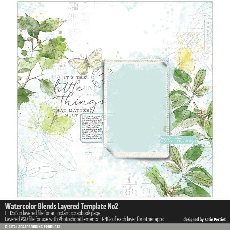 Watercolor Blends Layered Template No 02 Katie Pertiet Layered