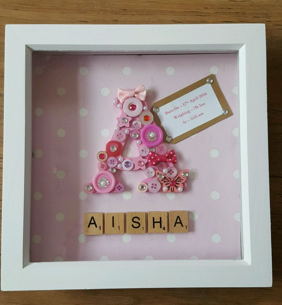 GORGEOUS Large Initial/Letter SCRABBLE Frame. New Baby christening ...
