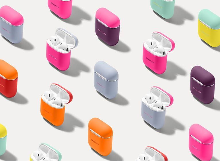 Neon Airpods Case Cover And Skin For Apple Airpods Charging Case Casetify The Glow Up Silicone Cover Case