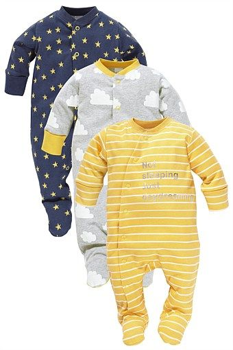 Daydream sleepsuits three pack