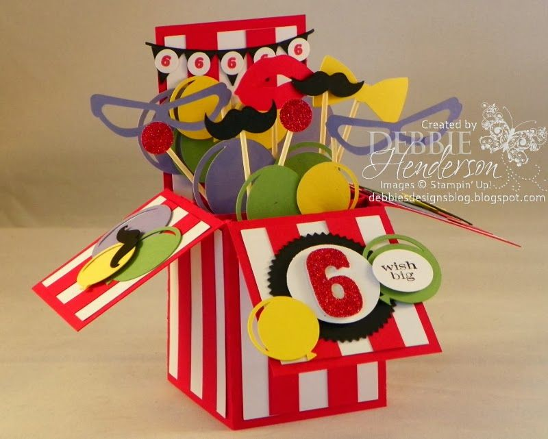 My granddaughters circus themed birthday party pop up card box my granddaughters circus themed birthday party pop up card box stampin bookmarktalkfo Image collections