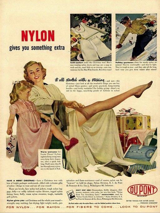 Dupont Introduced Nylon Hosiery In 1940 With This