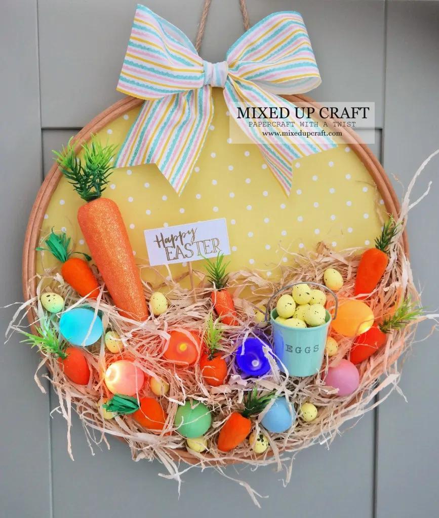 Photo of Nice embroidery hoop wreath
