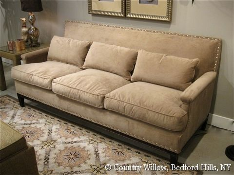 Sofa with nailheads available in loveseat, apartment sofa, sofa ...