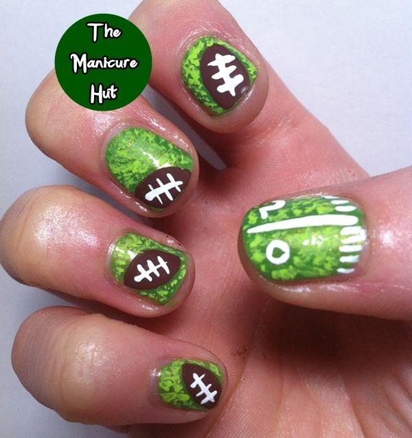 superbowl sunday football nails