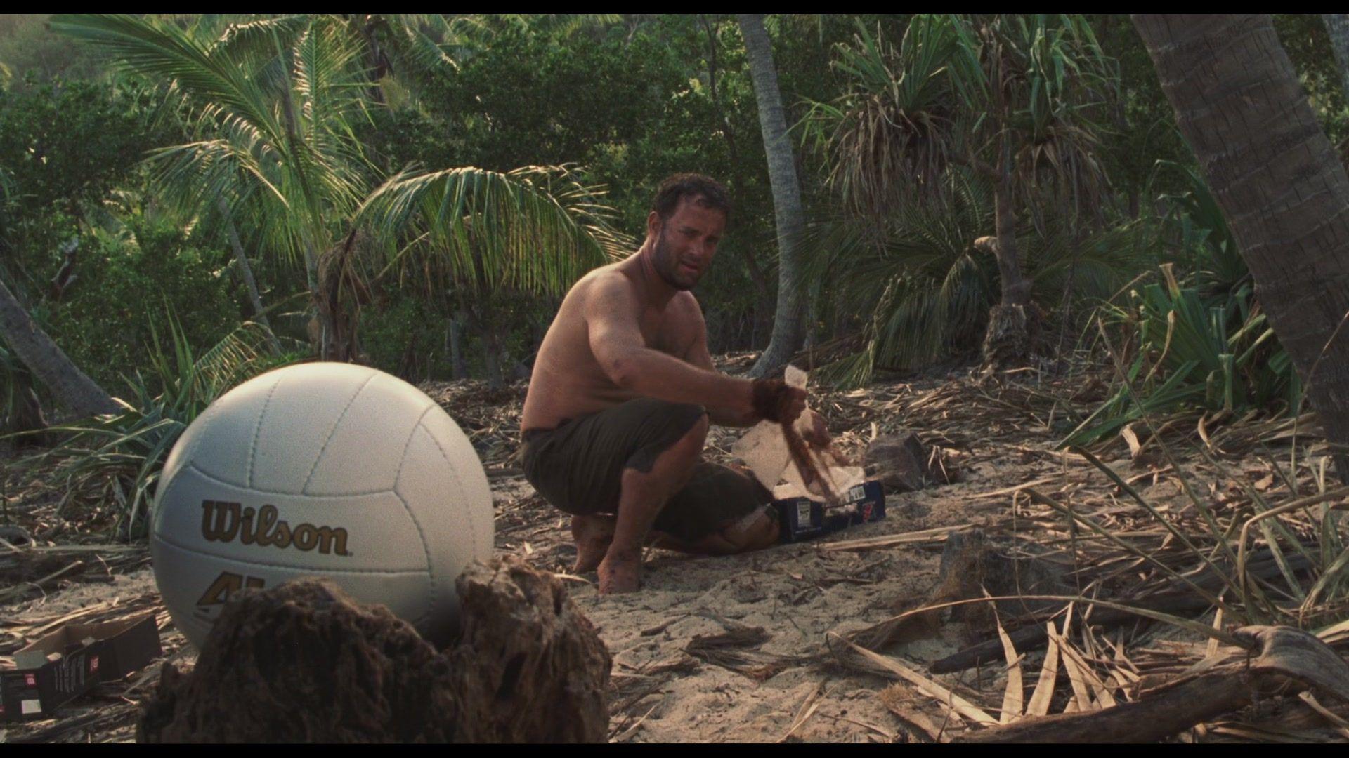 Tom Hanks In Cast Away With Wilson Inspirational Movies Cast Away Movie Movie Quotes Inspirational