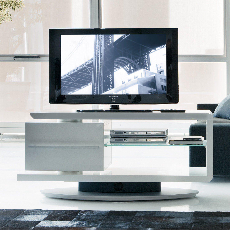 Mobile porta TV Cast con base orientabile e cassetto posizionato a ...