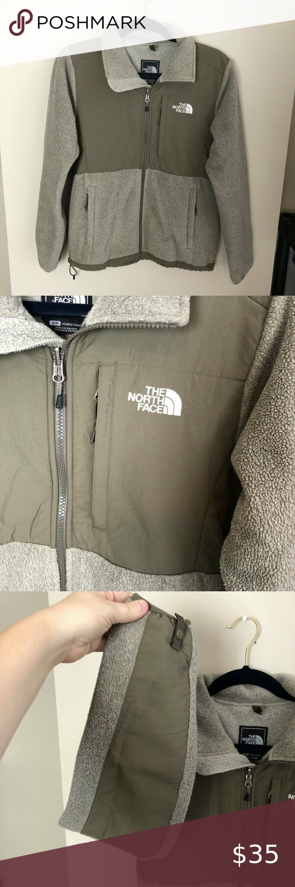 The North Face Beige Full Zip Denali Fleece Jacket Fleece Jacket The North Face Fleece [ 1740 x 580 Pixel ]