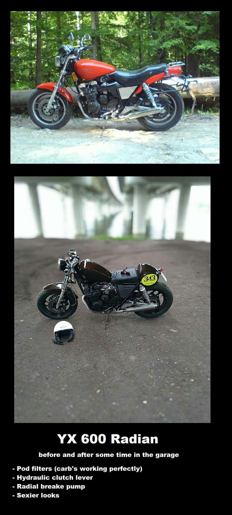Yamaha YX 600 radian cafe racer Bobber, Yamaha, Motorcycles, Motorbikes,  Choppers,