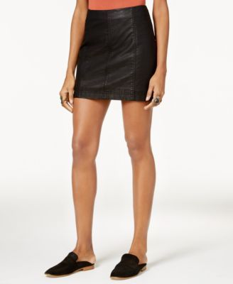 b8d1033508 FREE PEOPLE Free People Modern Femme Faux-Leather Mini Skirt. #freepeople  #cloth # skirts