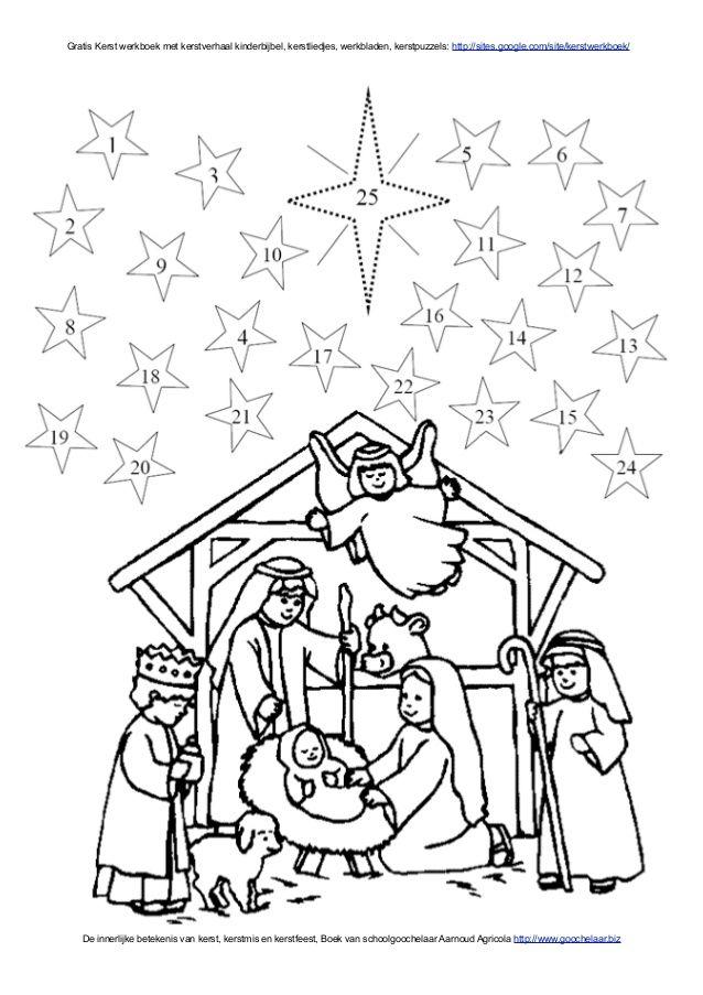 Kerstverhaal Uit Kinderbijbel In Gratis Kerst Werkboek Over