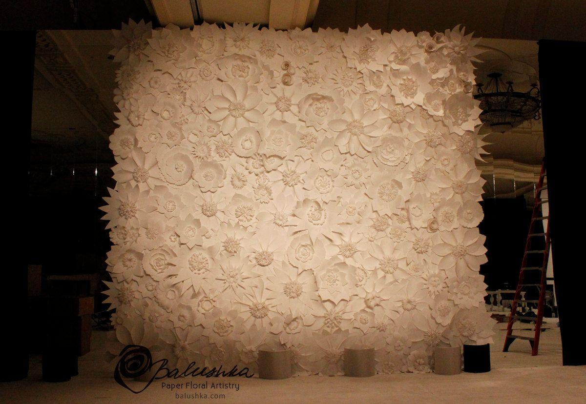 Balushka Paper Flowers For Centerpiece Garland Wedding Ideas