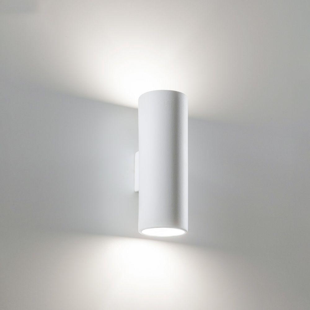 Wandlampe Wandleuchte famlightsFlur E14 Glas Schlicht weiss