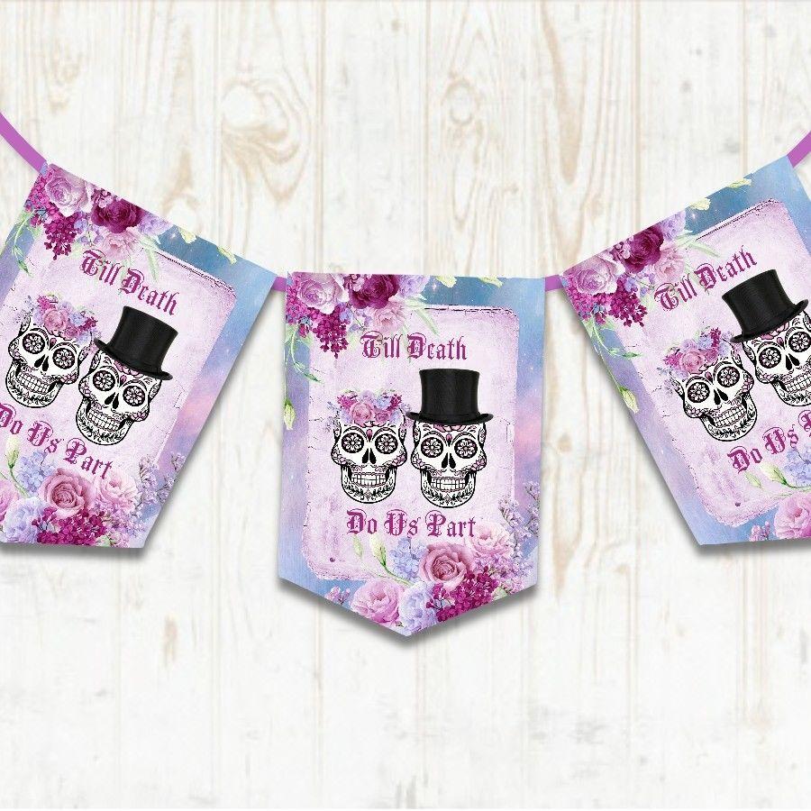 Sugar Skull Wedding Banner, Gothic Wedding Decoration, Day of the ...