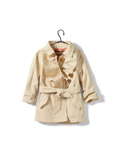 40771b820 Flounce Trench Coat for baby girl.
